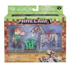 Фигурка Алекс с скелетом лошади из Minecraft