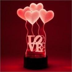 Настольная 3D-лампа Сердечки