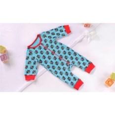 Детская пижама- комбинезон Britto Bear голубого цвета