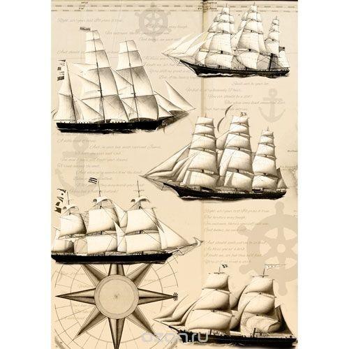 Рисовая бумага для декупажа Королевский флот, 28,2 см х 38,4 см