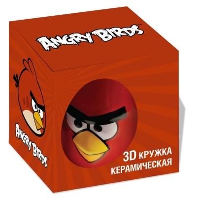 Кружка AngryBirds 3D 300 мл., красная в коробке