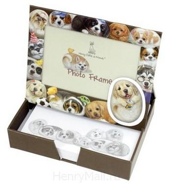 Коробка-фоторамка для записок «Собачки Генри»