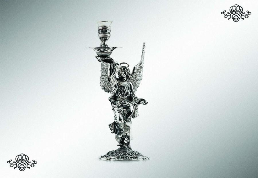 Серебряный подсвечник «Ангел-хранитель»