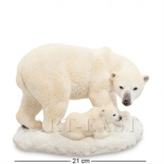 Статуэтка Белый медведь с детенышем