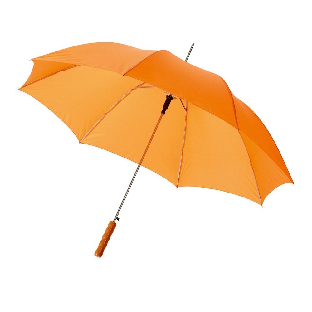 Оранжевый полуавтоматический зонт-трость