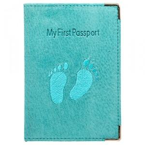 Обложка для паспорта My first passport (бирюзовая)