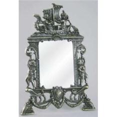 Темное настольное зеркало Ангелы