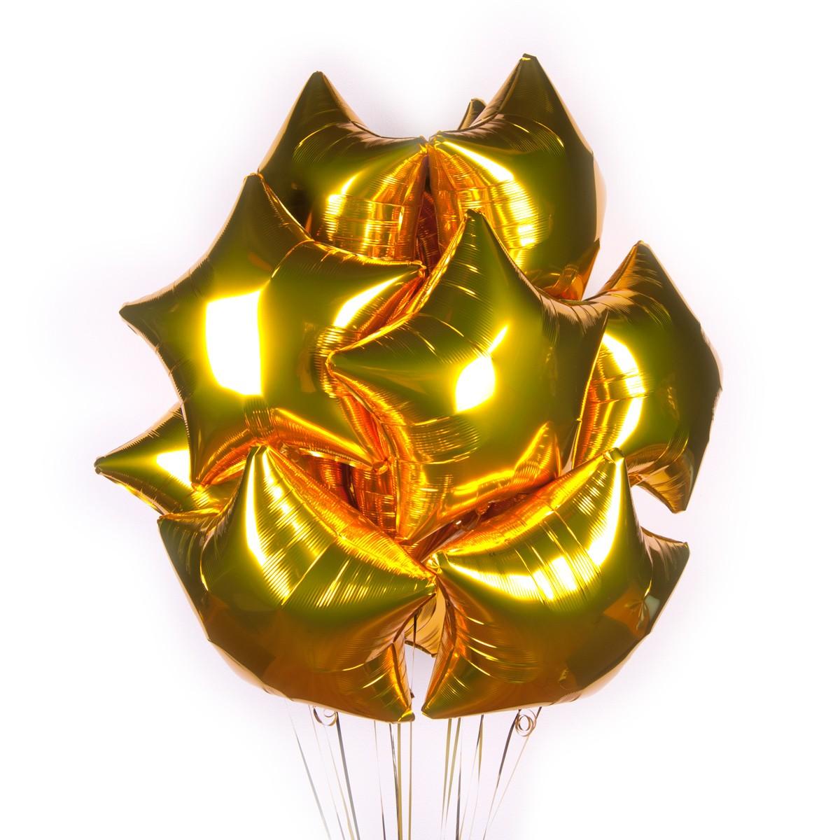 Золотые звезды для подарка