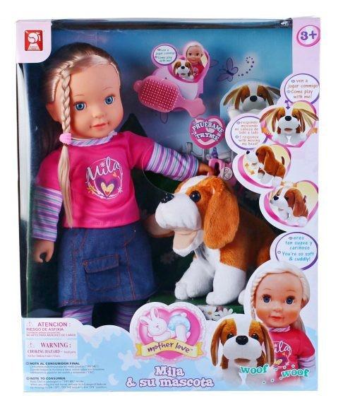 Интерактивная кукла с собакой
