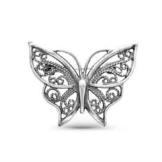 Серебрная брошь Бабочка