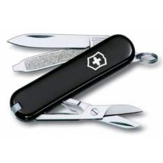 Черный нож-брелок Classic 58 с отверткой