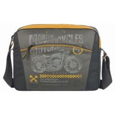 Серо-желтая сумка Grizzly