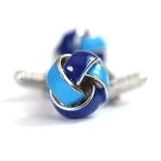 Запонки Голубые узелки