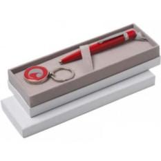 Набор Cacharel: шариковая ручка, брелок с флеш-картой 4 Гб