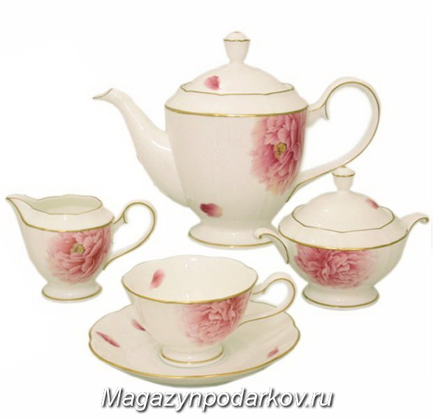 Чайный сервиз на 6 персон Narumi Пион