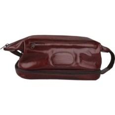 Кожаный коричневый несессер