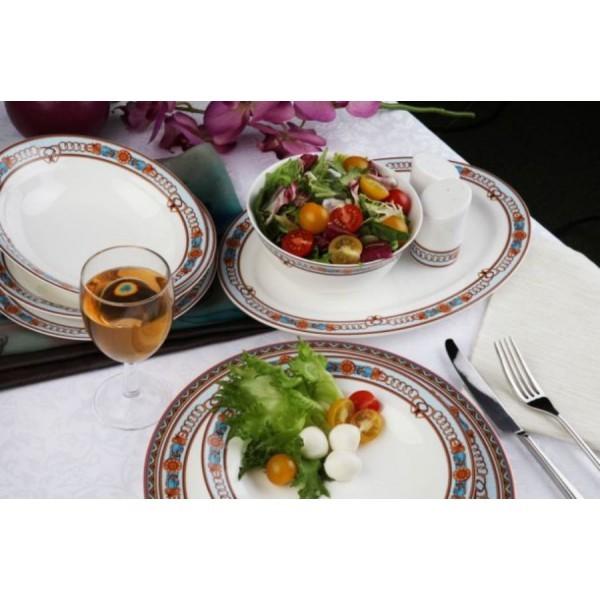 Фарфоровые столовый и чайный сервизы Гермес