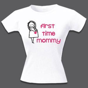 Футболка для беременных First time mommy