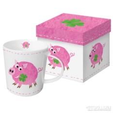 Кружка в подарочной коробке Lucky piggy