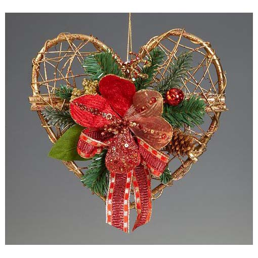 Еловое украшение «Сердце»