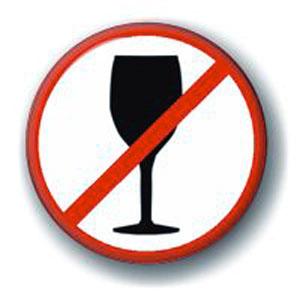 Значок «Не пью!»