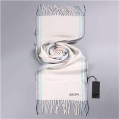 Зимний кашемировый белый шарф Krizia