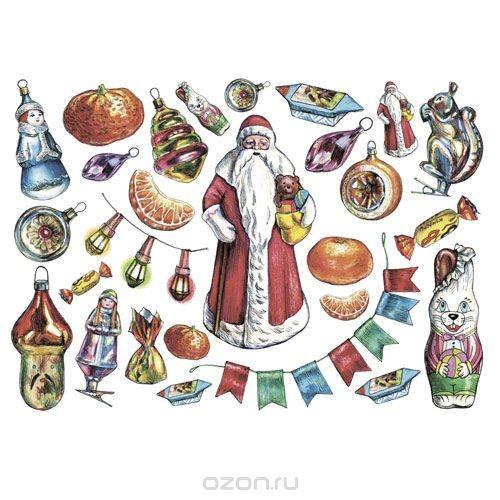 Рисовая бумага для декупажа Дед Мороз, 28,2 см х 38,4 см