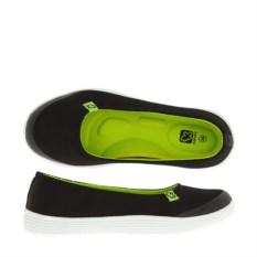 Черно-зеленые балетки Kakadu