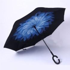 Обратный ветрозащитный зонт Up-brella Цветок (цвет: синий)
