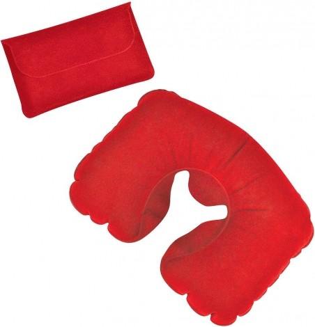 Красная надувная дорожная подушка в футляре
