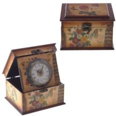 Деревянная шкатулка с композицией Время