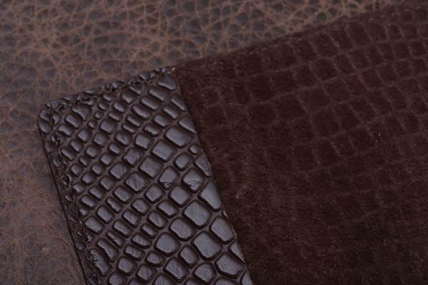 Обложка для паспорта из кожи Amelie (темно-корич, игуана)
