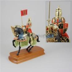 Статуэтка Конный рыцарь в зеленом
