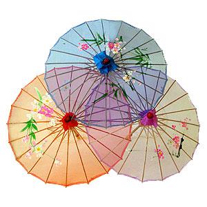Зонтик малый, прозрачная ткань
