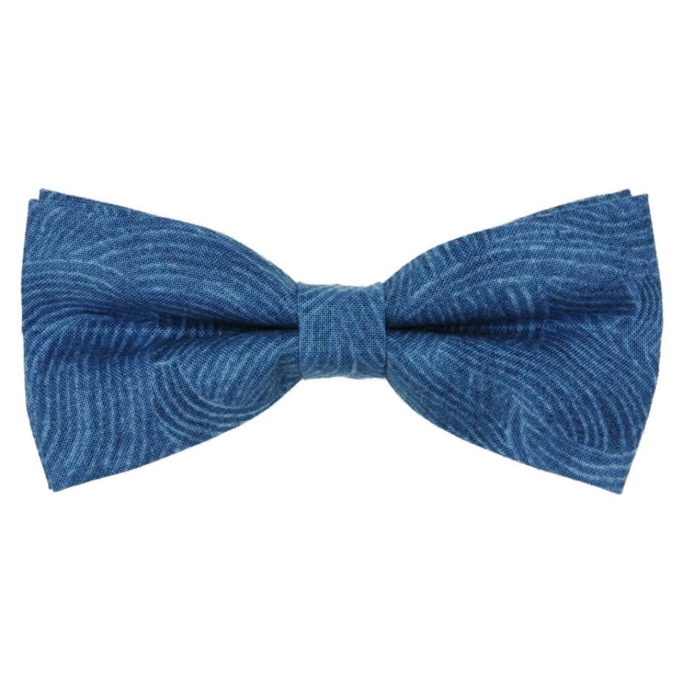 Галстук-бабочка синяя