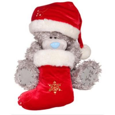 Мишка «Санта» с носком