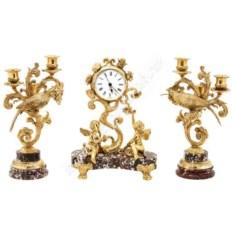 Каминный набор «Колибри» часы и канделябры
