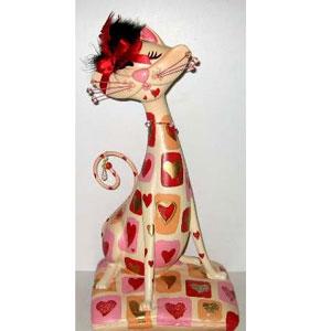 «Кошка с сердцами» декоративная