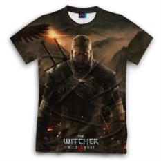 Мужская футболка 3D с полной запечаткой Wild hunt