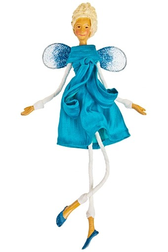 Украшение интерьер. Маленькая фея  в голубом платье