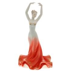 Фарфоровая фигурка танцовщицы в красном платье