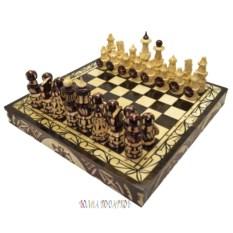 Шахматы с резными фигурами Русь Великая