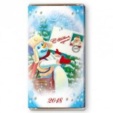 Шоколадная открытка Весточка от Деда Мороза