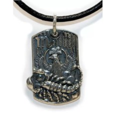 Серебряный жетон Скорпион