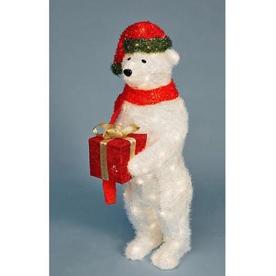 Медведь большой с подарком