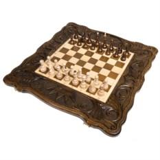 Большие шахматы и нарды ручной работы Корона