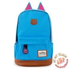 Голубой рюкзак с ушками кошки