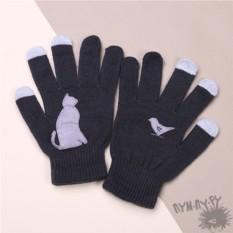 Touch-перчатки Серый кот