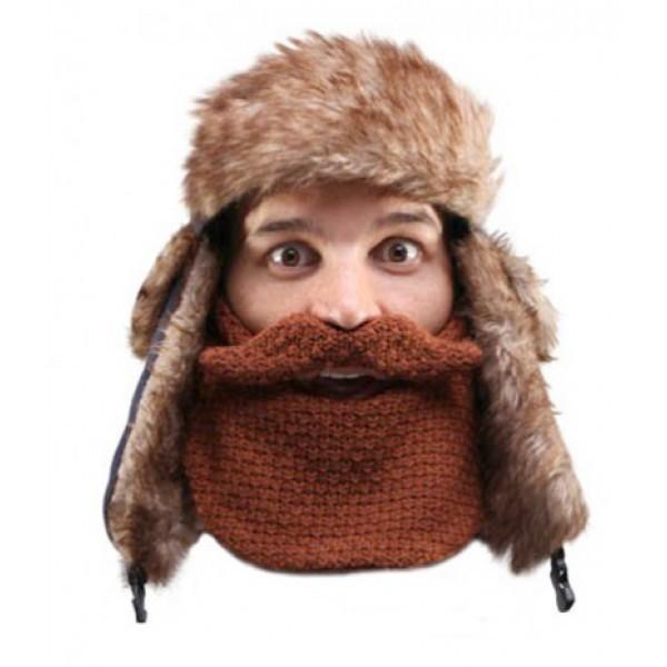 Шапка с бородой Trapper-Classic