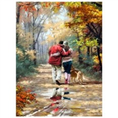 Картина-раскраска по номерам на холсте Путь счастья